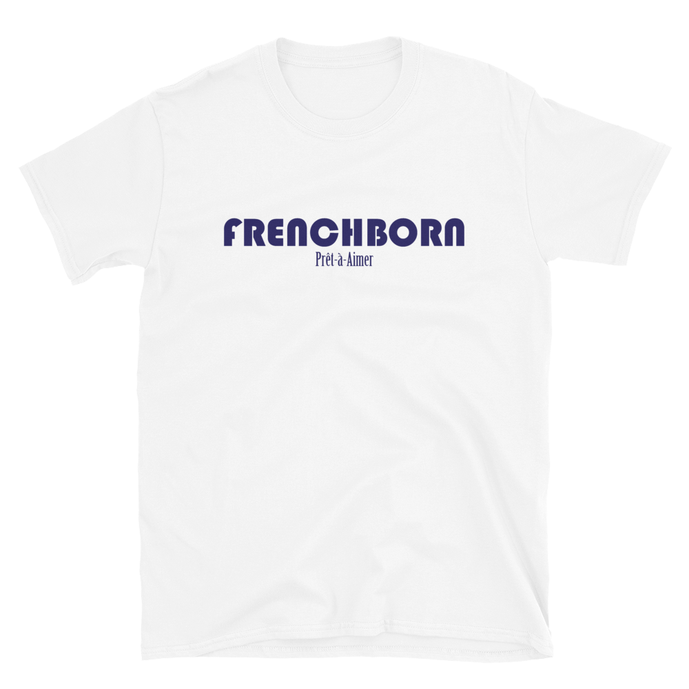 FRENCHBORN PRÊT-À-AIMER-- Men's T-Shirt, Royal Blue Print