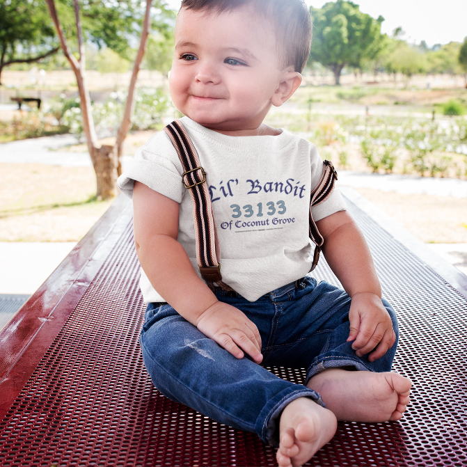 LIL' BANDIT OF COCONUT GROVE-- Baby T-Shirt, Blue Print