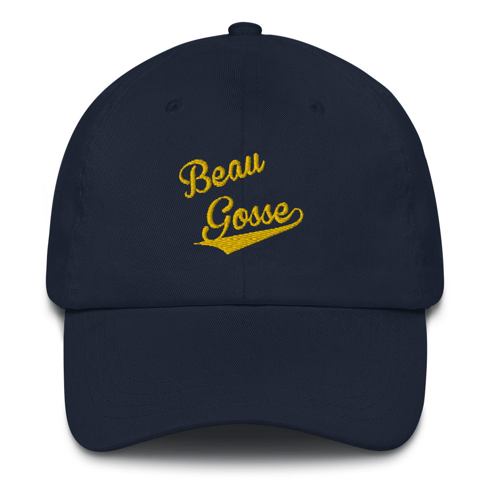 BEAU GOSSE-- Cap, Gold Embroidery