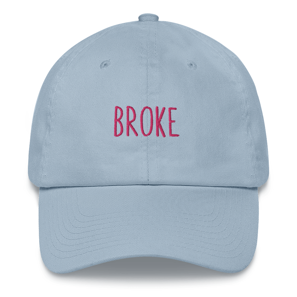 BROKE-- cap, Red Embroidery