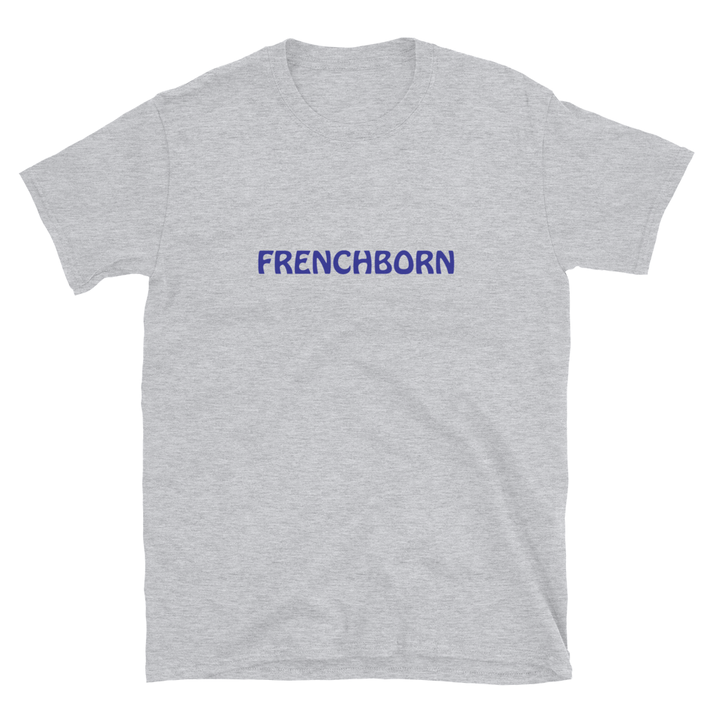 FRENCHBORN-- Women's T-Shirt, Royal Blue Print