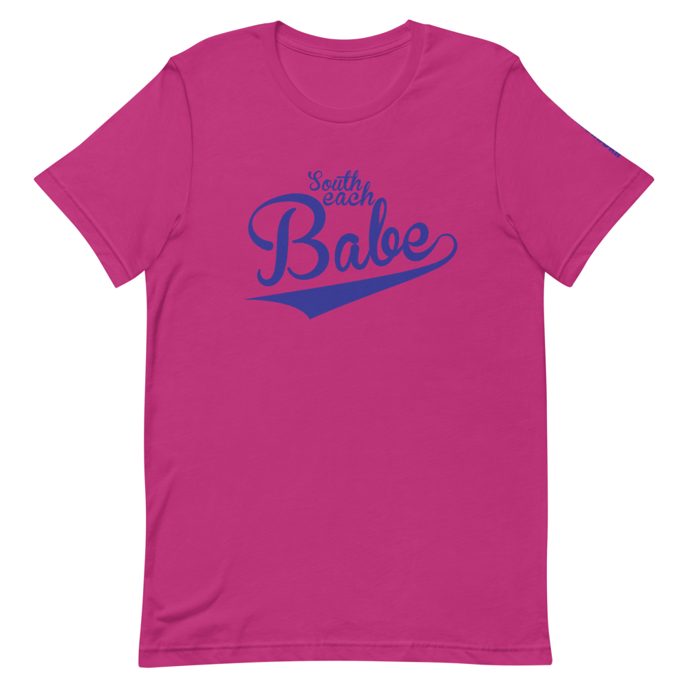 SOUTH BEACH BABE-- Women's T-Shirt, Royal Blue Print