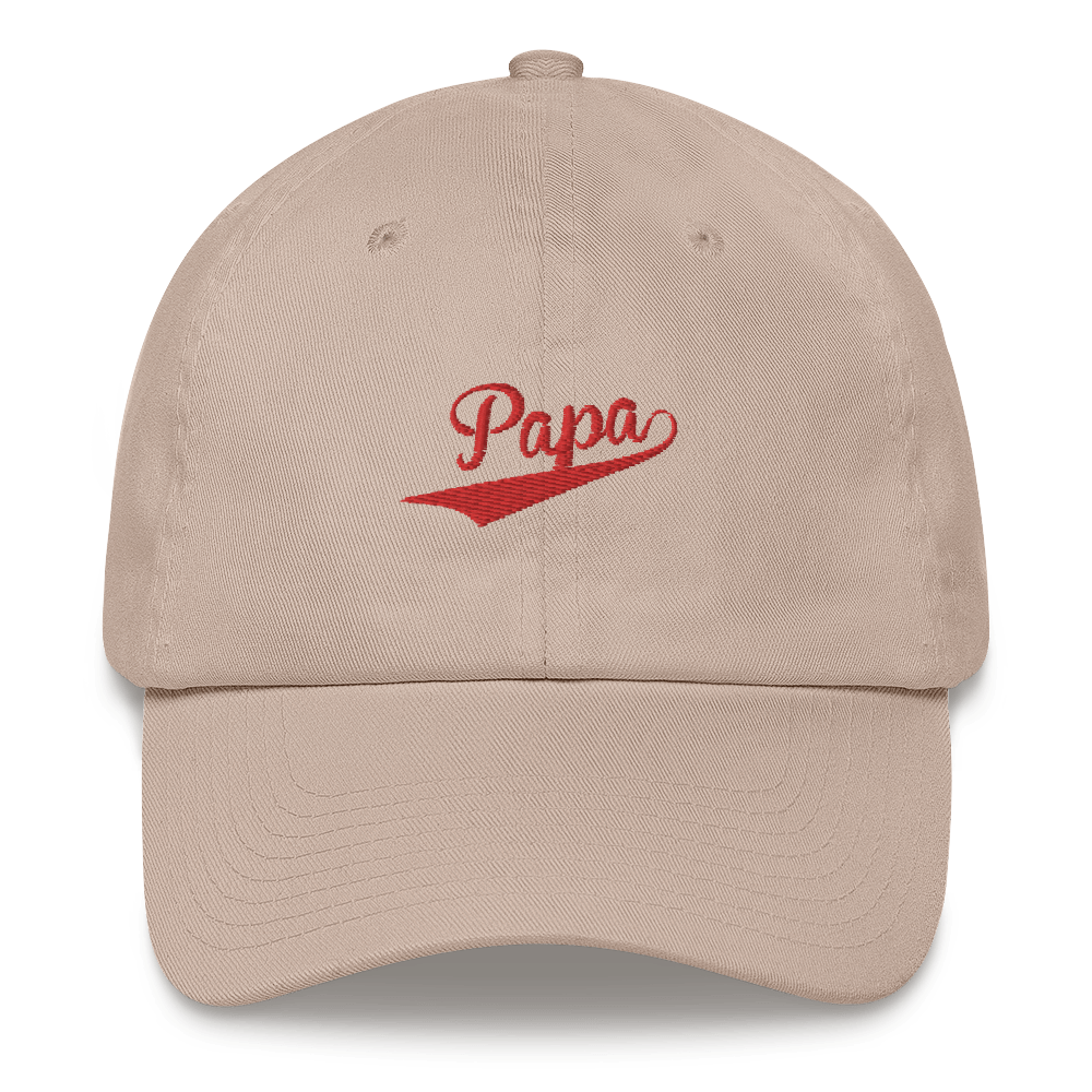 PAPA-- Cap, Red Embroidery