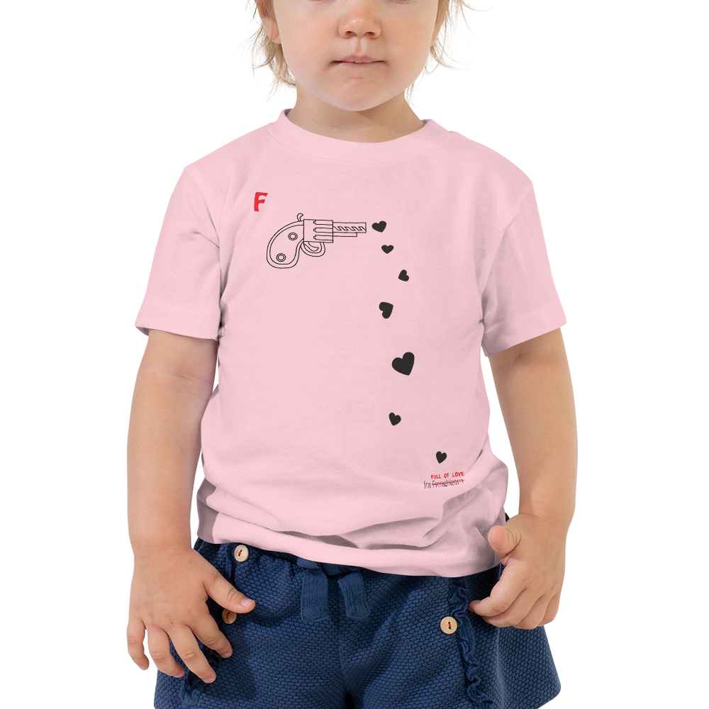 SPREAD LOVE-- Short-Sleeved, Toddler T-Shirt