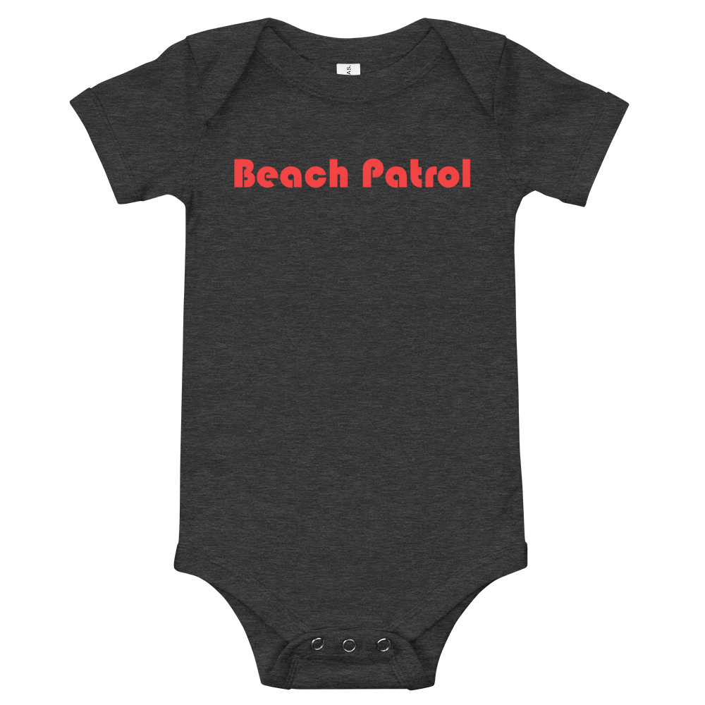 BEACH PATROL-- Onesie, Red Print