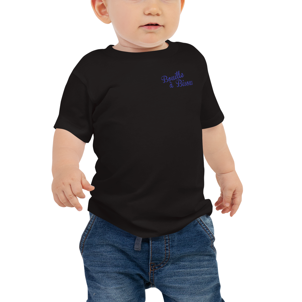 BOUILLE À BISOUS-- Short-Sleeved, Baby T-Shirt, Royal Blue Print