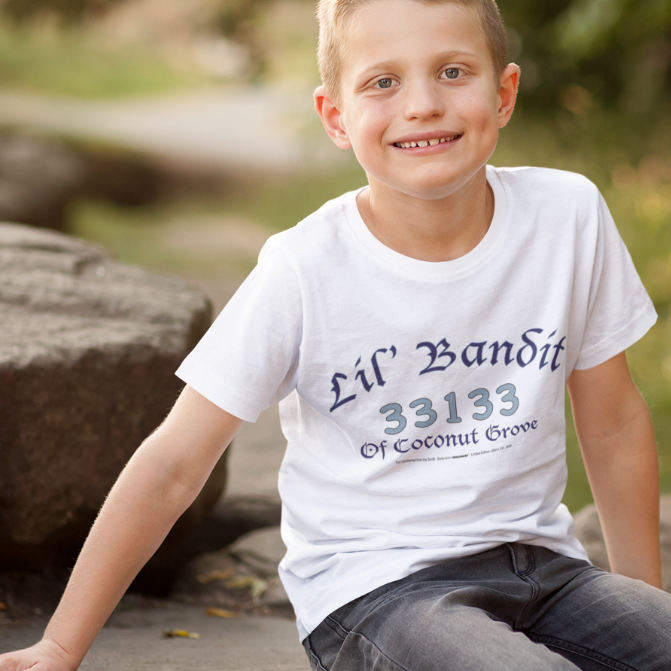 LIL' BANDIT OF COCONUT GROVE-- Youth T-Shirt, Blue Print