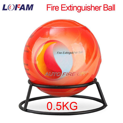 LOFAM Fire Ball Automatic Dry Powder Fire Extinguisher Ball Fire Suppression Device For Car House 11 Diameter 0.5KG