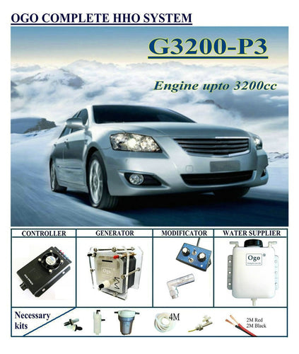 Complete HHO system G3200-P3 Normal PWM Controller upto Engine 3200CC Universal Cars