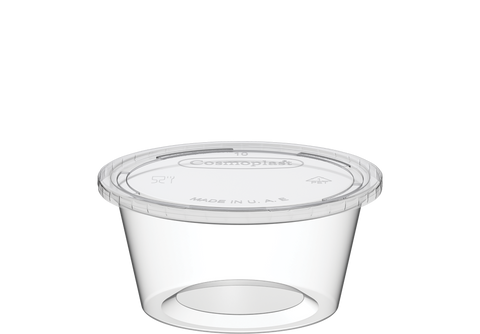 Plastic Sauce Cups Clear with Clear Lid 2 oz 2000 Pcs.