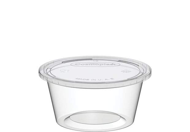 Plastic Sauce Cups Clear with Clear Lid 2 oz. - 100 Pcs.