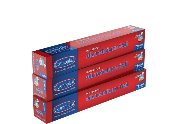 Aluminium Foil 30 cm - 75 Sq. Ft. Pack of 3