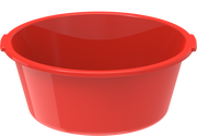 Plastic Deep Basin Tub 100L Red