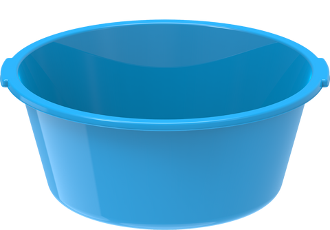 Plastic Deep Basin Tub 100L Blue