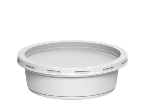 Plastic Catering Containers 200 ml with Lids White - 20 Pcs.