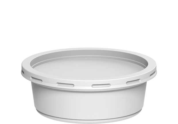Plastic Catering Containers 250 ml with Lids White - 20 Pcs.