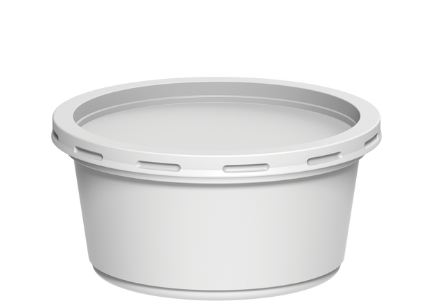 Plastic Catering Containers 350 ml with Lids White - 20 Pcs.