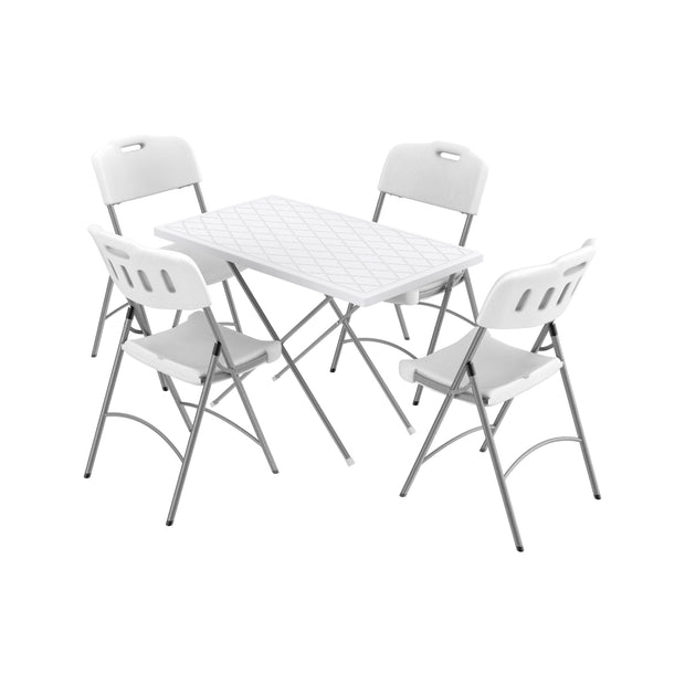 Picnic Table & Chairs w/ Metal Legs Set