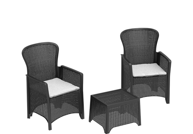 Cedarattan Resin Outdoor Rattan Lounge Duo Set