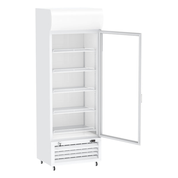 Celsius Upright Display Freezer 455 Liters - White
