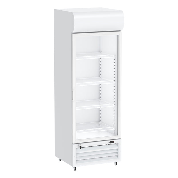 Celsius Upright Display Freezer 320 Liters - White