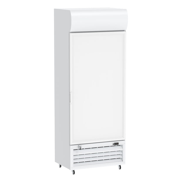 Celsius Upright Solid Door Chiller 440 Liters - White