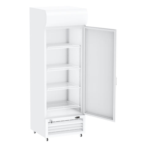 Celsius Upright Solid Door Chiller 320 Liters - White