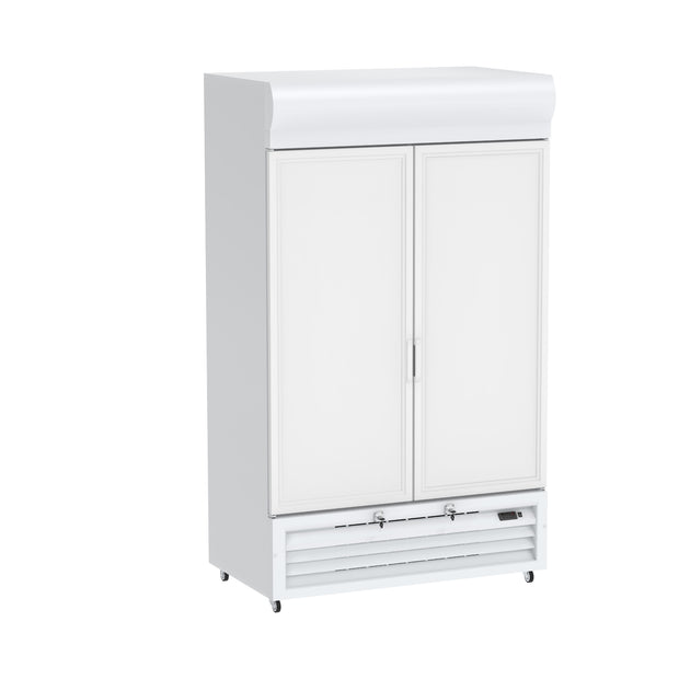 Celsius Upright Solid Door Chiller 900 Liters - White