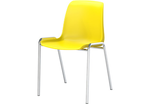 ECO Chair with Plastic Shell and Steel Legs
