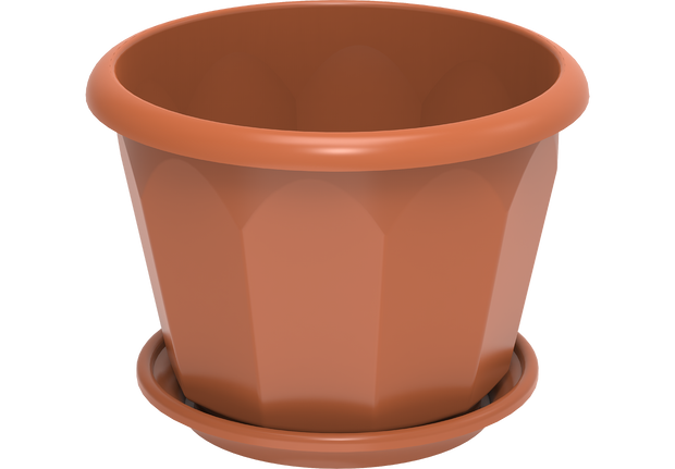 Hexagonal Plastic Flowerpots 30 with Tray