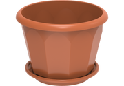 Hexagonal Plastic Flowerpots 35 with Tray
