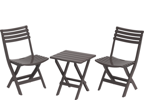 Portable Plastic Folding Chair & Table Set