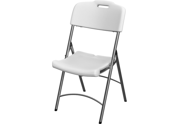 Plastic Garden Folding Chair White with Steel Legs