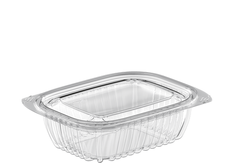 General Purpose 16 oz. Plastic Clear Containers with Lids - 20 Pcs.
