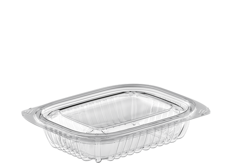 General Purpose 8 oz. Plastic Clear Containers with Lids - 20 Pcs.