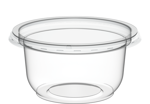 Plastic Clear Containers IC 15 with Clear Lids 150 ml 1000 Pcs.