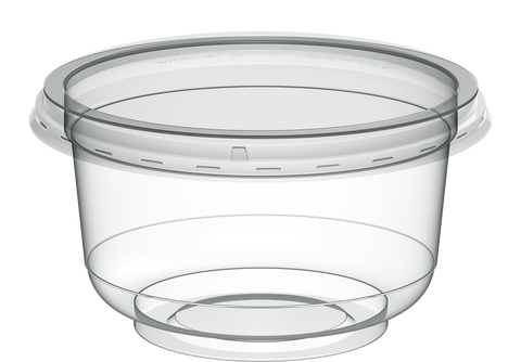 Plastic Clear Containers IC 95 with Clear Lids 200 ml - 40 Pcs.