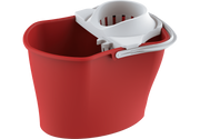 Plastic Mop Bucket Squeezer with Handle Red