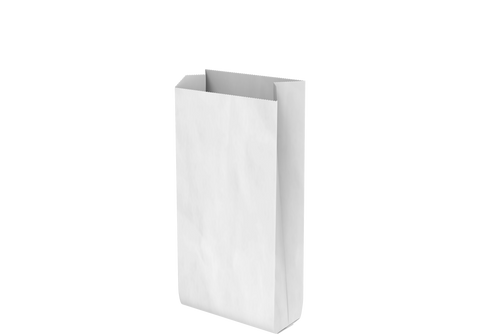 Grocery Paper Bags Plain White Flat Bottom 20 x 40 x 9 cm - 550 Pcs.