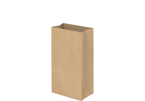 Grocery Paper Bags Plain Brown Square Bottom 15 x 28 x 9 cm - 500 Pcs.