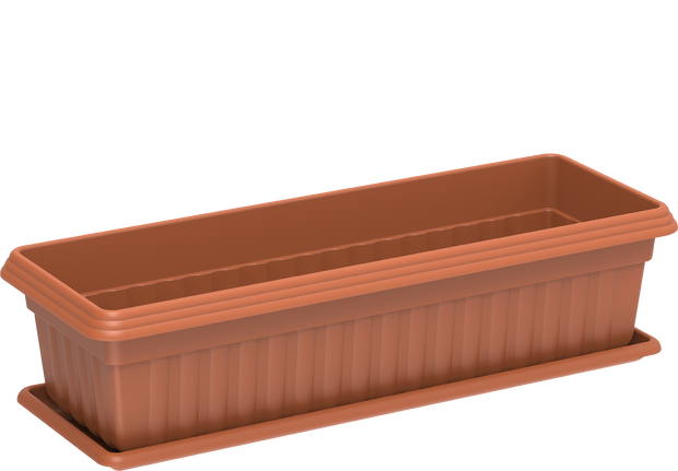 Exotica Plastic Planters with Tray Small