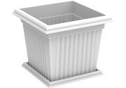 Square Plastic Planter with Tray 10L