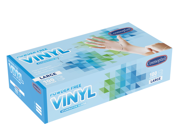 Vinyl Gloves Clear Powder-free Large - 100 Pcs.