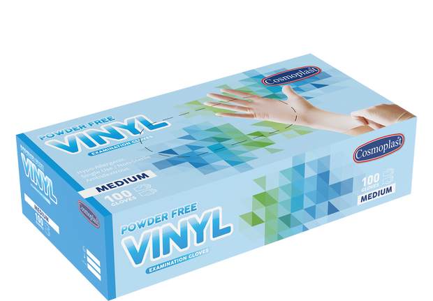 Vinyl Gloves Clear Powder-free Medium - 100 Pcs x 10