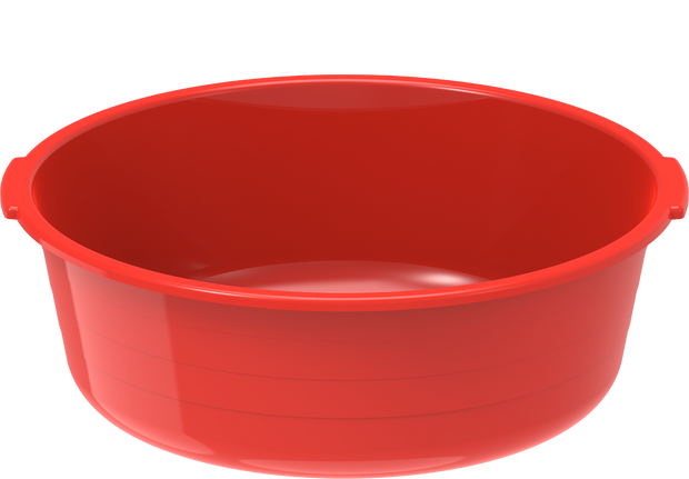 Plastic Round Basin Tub 6L Red