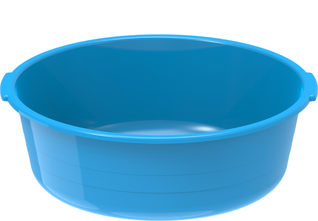 Plastic Round Basin Tub 6L Blue