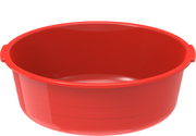 Plastic Round Basin Tub 8.5L Red