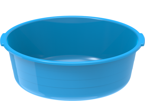 Plastic Round Basin Tub 8.5L Blue