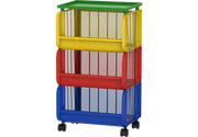 Plastic Storage Cart with Wheels