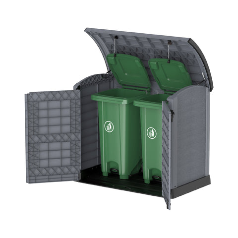 Cedargrain Outdoor Resin Storage Small Shed 1200L with Arc Lid